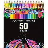 US Art Supply 50 Piece Adult Coloring Book Artist Grade Colored Pencil Set