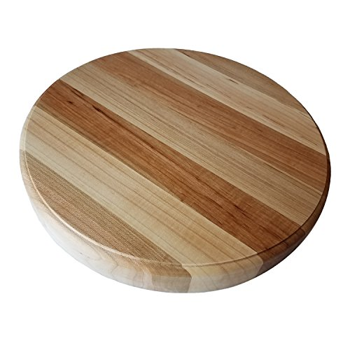 (HomeProShops Round Wood Butcher Block Cutting Board - 1-1/2