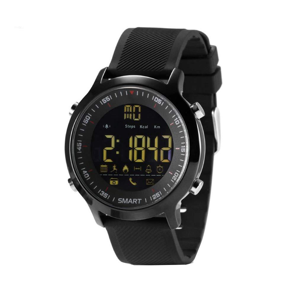 KOROWA LEMFO EX18 IP67 Waterproof Pedometer Smart Watch Message Phone Call Reminder for Android for iOS Phoneblack