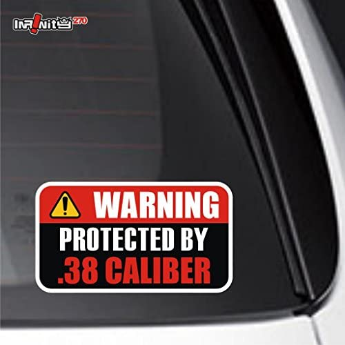 .38 INSIDE Sticker Decal Gun Firearm Ammo Caliber Handgun Pistol Revolver Arms