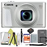 Canon PowerShot SX730 HS 20.3MP Digital Camera 40x Optical Zoom and Built-in WiFi/NFC (Starter Bundle, Silver)