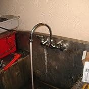 Peerless Claymore 2 Handle Wall Mount Kitchen Sink Faucet