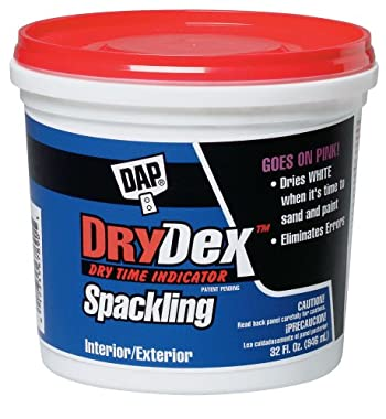DAP 12330 Dry Time Indicator Spackling, 1-Quart Tub self