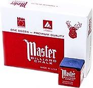 Imperial Master 18-319 Billiard/Pool Cue Chalk Box, 12 Cubes, Blue