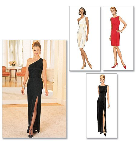 Evening Dresses Sizes 14-18 Butterick Ladies Sewing Pattern 4343