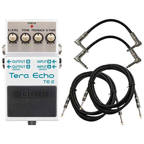 Boss TE-2 Tera Echo Effects Pedal w/4 Cables