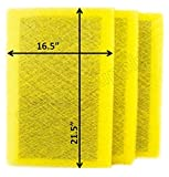RAYAIR SUPPLY 18×24 MicroPower Guard Air Cleaner Replacement Filter Pads (3 Pack) Yellow