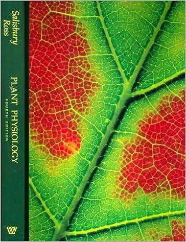 Amazon.com: Plant Physiology (9780534151621): Frank Salisbury ...