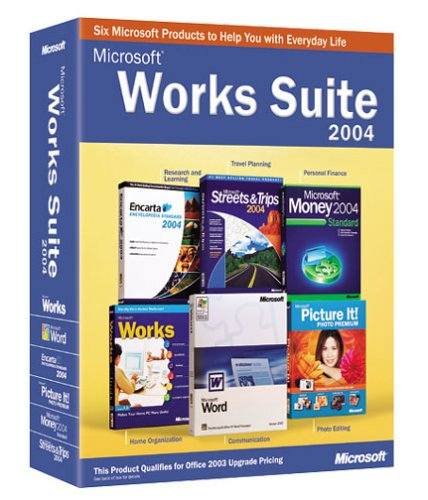 Microsoft works suite 2004 old version flyers online for Microsoft task launcher templates