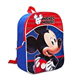 Fast Forward Little Boys' Mickey Mouse Mini Backpack, Blue/Red, One Size