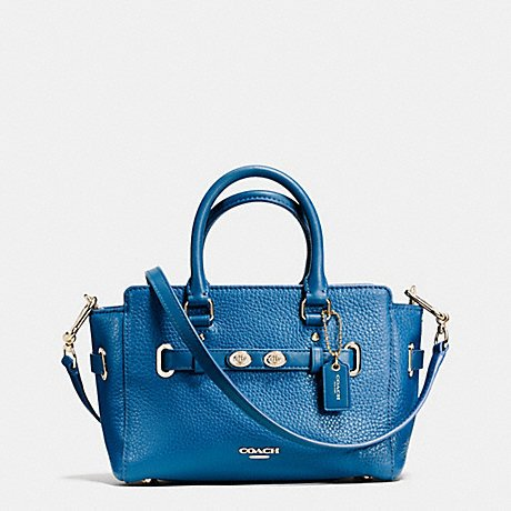 Coach Bubble Leather Bright Mineral Blake Mini Carryall by Coach