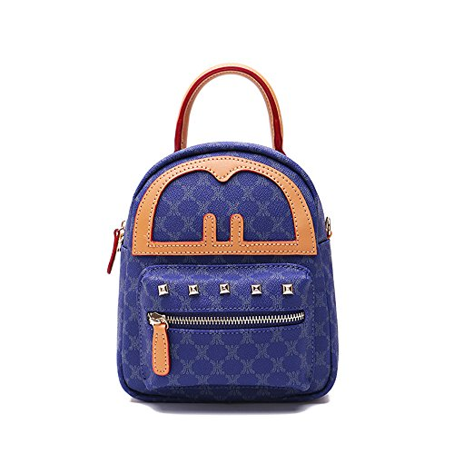 Color Shoulder camel Blue Bag Double q4RxSp