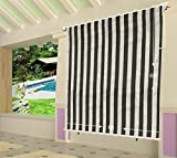 Shatex 6x6ft Coffee Outdoor Roller Sun Shade Exterior Cordless Roller Shade