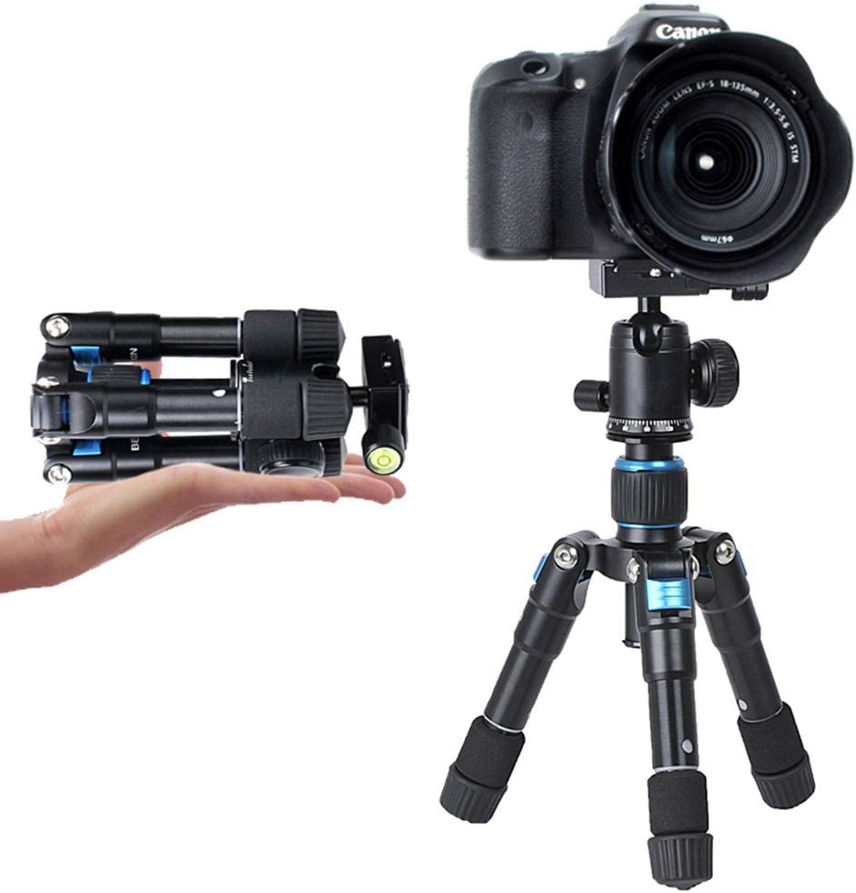 Action Cameras 5 Kg Load Portable Lightweight Aluminum Tripod with Adjustable Height for Digital SLR Cameras ZXASDC Camera Tripod Phone Tripod etc