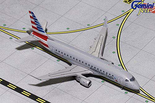 GeminiJets American Eagle 1:400 Scale Diecast Model Airplane, White - Eagle Diecast Model