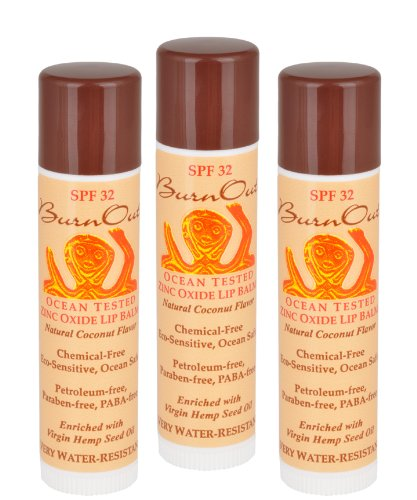 SPF Lip Balm - Natural Coconut (3 pack) ()
