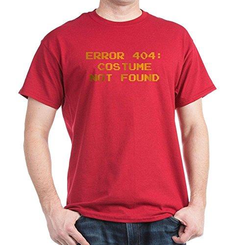 [CafePress - 404 Error : Costume Not Found Dark T-Shirt - 100% Cotton T-Shirt] (404 Error Message Costume)