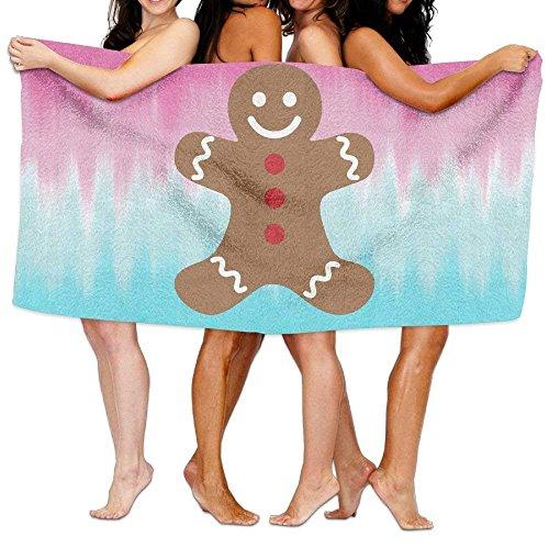 Beach Towel Gingerbread Man Merry Christmas 80