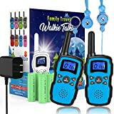Wishouse 2 Walkie Talkie for Kids Rechargeable, UHF Two Way Radio for Adults, FRS Walky Talky Long Range Distance, Fun Toys with Battery and Charger, Children's Day Gift for Girls Boys Teens