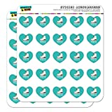 """Ice Skates Figure Skating Living On The Edge 1"""" Heart Shaped Planner Calendar Scrapbook Craft Opaque Stickers"""