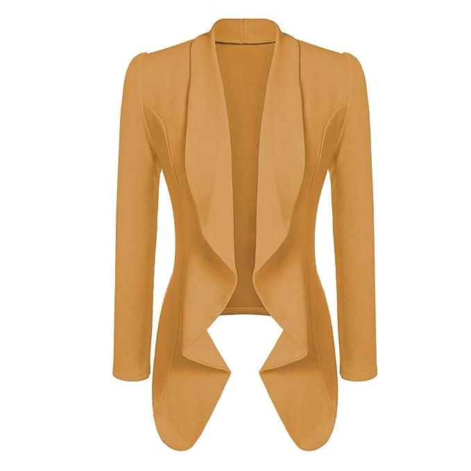 Linlink Chaqueta de Moda de Invierno Mujeres Casual OL Estilo Blazer Elegante Slim Chaqueta Moda Trabajo Oficina Traje Abrigo: Amazon.es: Ropa y accesorios