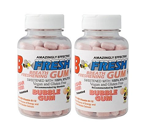 B-Fresh - Bubble Gum Flavored Gum, 50 Sugar Free Pieces per Pack - (2 pack) ()