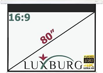 Luxburg® Pantalla de proyección a motorizada 186x104 cm (Diagonal ...