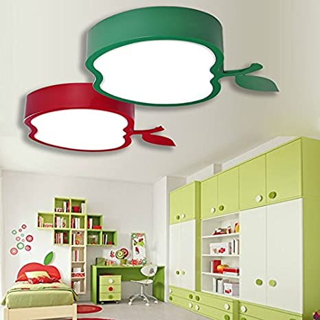 GQLB Niño lindo cartoon chico chica Apple LED LUCES DE SALA ...