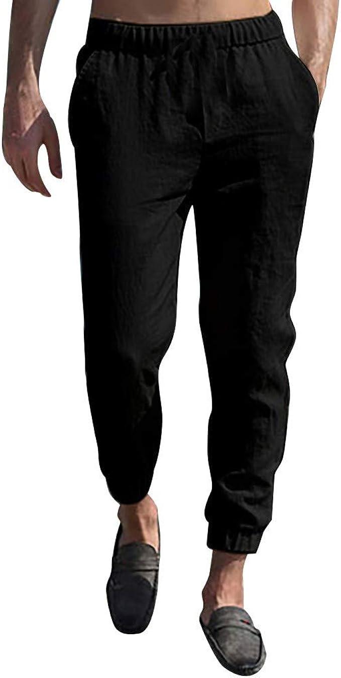 Seringlings Hombre Pantalones Casual Pantalones de Trabajo con ...