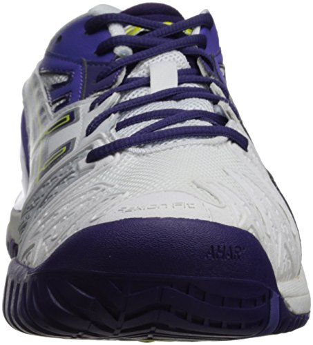 Asics Gel-resolution 5 - Zapatillas de tenis Mujer Weiß (WHITE/PURPLE/LAVENDER 0133)