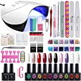 Best Gel Polish Kits - Gelongle 10 Colors Gel Polish Starter Kit 36W Review