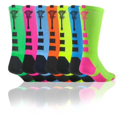 Midline Lacrosse Logo Crew Socks
