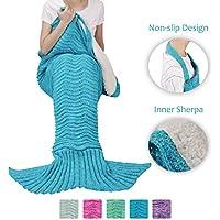 Sherpa Mermaid Tail Blanket for Adults Teens Girls...