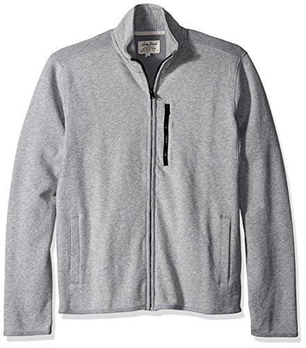 Lucky Brand Men's Grey Label Full Zip Sweatshirt, Heather Grey, (Lucky Full Zip Sweatshirt)