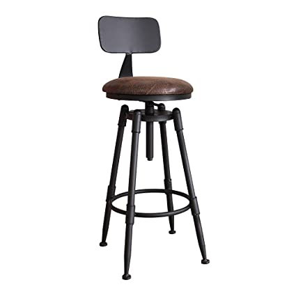Amazoncom Zhen Guo Industrial Black Counter Height Bar Stool
