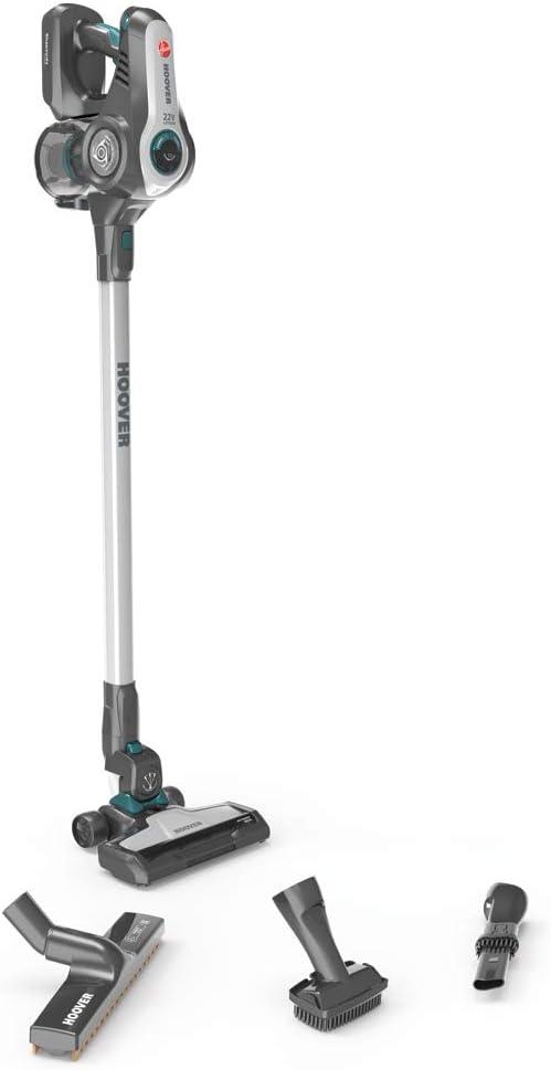 Hoover Rhapsody RA22AFG Aspiradora escoba sin cable, 2 rodillos para cepillo principal, Luces LED, Set completo accesorios, Batería extraíble, H-Spin Core, 0.7 litros, De plástico, Gris: Hoover: Amazon.es: Hogar