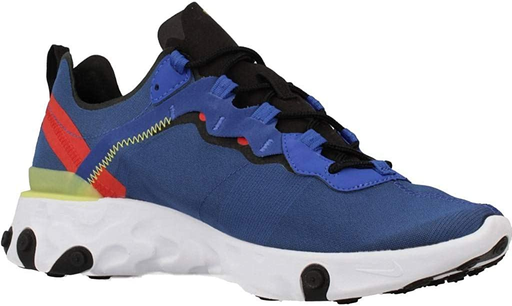 Nike React Element 55, Chaussures de Trail Homme Multicolore Game Royal Black White Dynamic Yellow 403