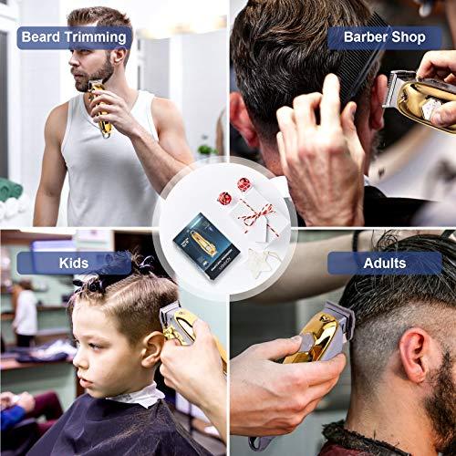 Haarschneidemaschine Profi, Xpreen Haarschneider Herren Elektrisch Haartrimmer Trimmer Herren Elektrisch Langhaarschneider Barttrimmer Bartschneider Haarschneider Set mit Einstellbaren Schnittlängen