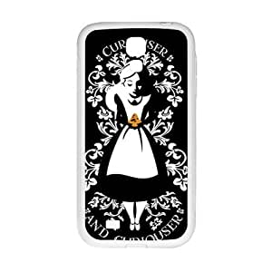 alice in wonderland curiouser and curiouser Phone Case for Samsung Galaxy S4 Case