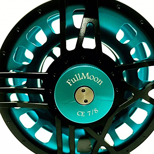 Reels Abel Fly - FullMoon Outfitters CE78 FMO 7/8 Fly Reel from Large Arbor, Precision CNC Machined, Large Arbor, Lightweight Fly Reel + Free 7 OR 8 WT Fly LINE!!!