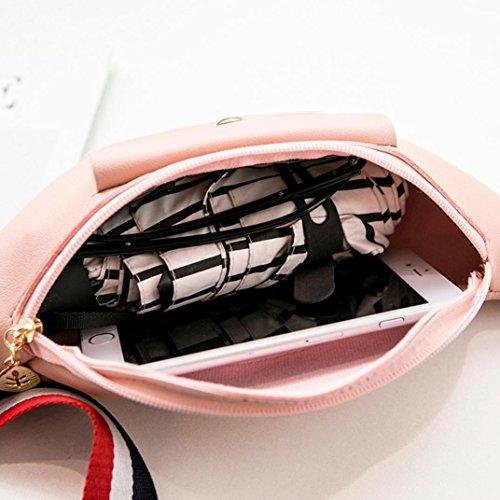 Di Banner Colore Solido Cellulare Rosa Donne Del Cerniera Uomini rosa Gusspower E Telefono Borsa Certificato Vita Tasca Nastro Verticale OqSCxv4w1