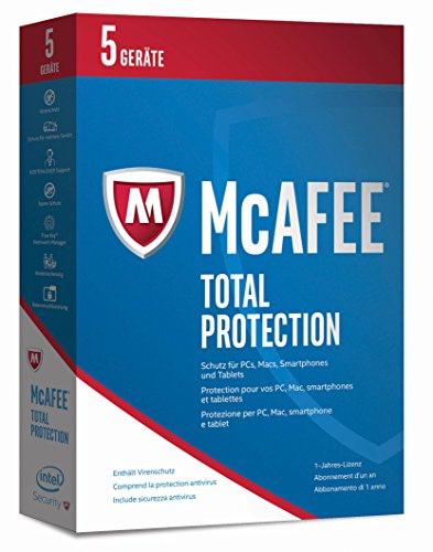 McAfee Total Protection 2017 - 5 Geräte Minibox [Online-Code]