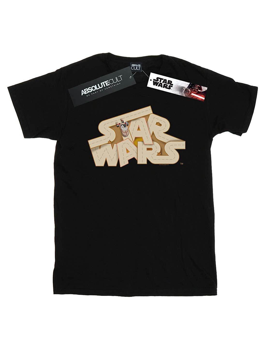 Star Wars Boys Tatooine Jumble Logo T-Shirt