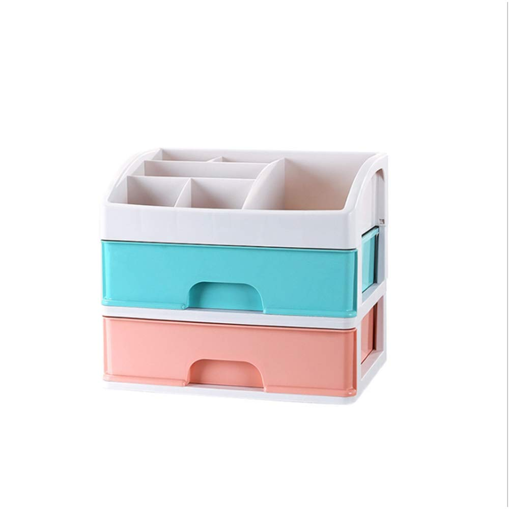 PURROMM Office Drawer Storage Gift Environmentally Friendly Non-Toxic and Tasteless PP Thick Material Classification Finishing Cosmetics Storage Box,B,Large2layer by PURROMM (Image #1)