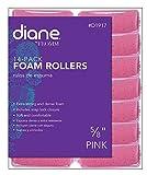 Diane Foam Rollers, Pink, 5/8', 14/bag