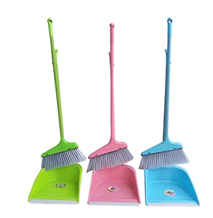 panihari Broom and Dustpan Set Combination Household Cleaning Products Soft Wiper Cleaning Brush Does not Stick Sweep Hair Magic Set of 1