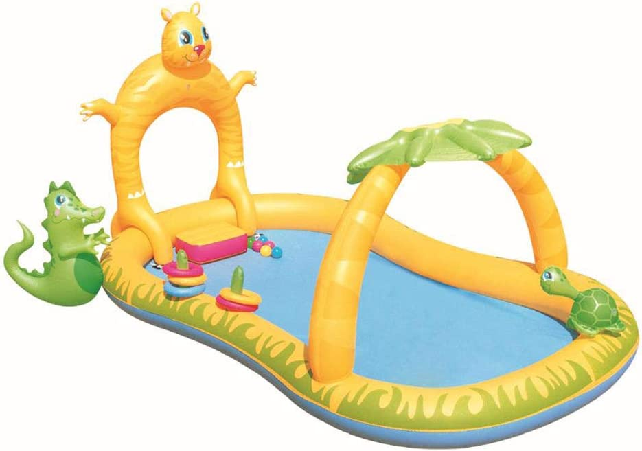 KIKBLW Piscina Inflable, Juego de niños Fuente Inflable Spray de Agua Inflable Baby Play Pool Ball Pool Pool, Adecuado para el hogar al Aire Libre: Amazon.es: Deportes y aire libre