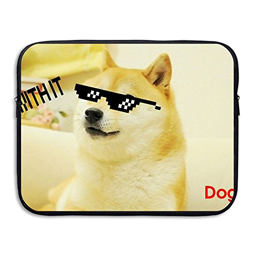 Cool Doge With Sunglass Water Repellent Laptop Case Bags Printed Ultrabook Briefcase Sleeve Bags Cover For Macbook Pro/Notebook/Acer/Asus/Lenovo Dell 13 - Durango Sunglasses