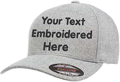 47d49f6951b9f4 Custom Hat Flexfit 6277 6533 Delta & More Embroidered. Your Own Text Curved  Bill