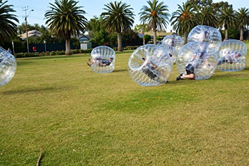Bubble Soccer Balls Dia 5' (1.5m) Human Hamster Ball, Bubble Football,Bumper Ball, Zorbing Ball, Knocker Ball, smash ball stress ball Loopy Ball ( New Black Dot) by Garybank (Image #8)